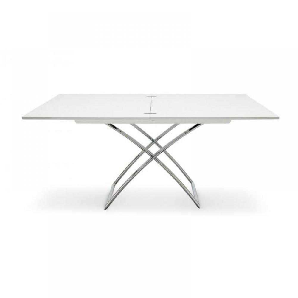 Tables basses meubles et rangements table calligaris for Table extensible laque blanc