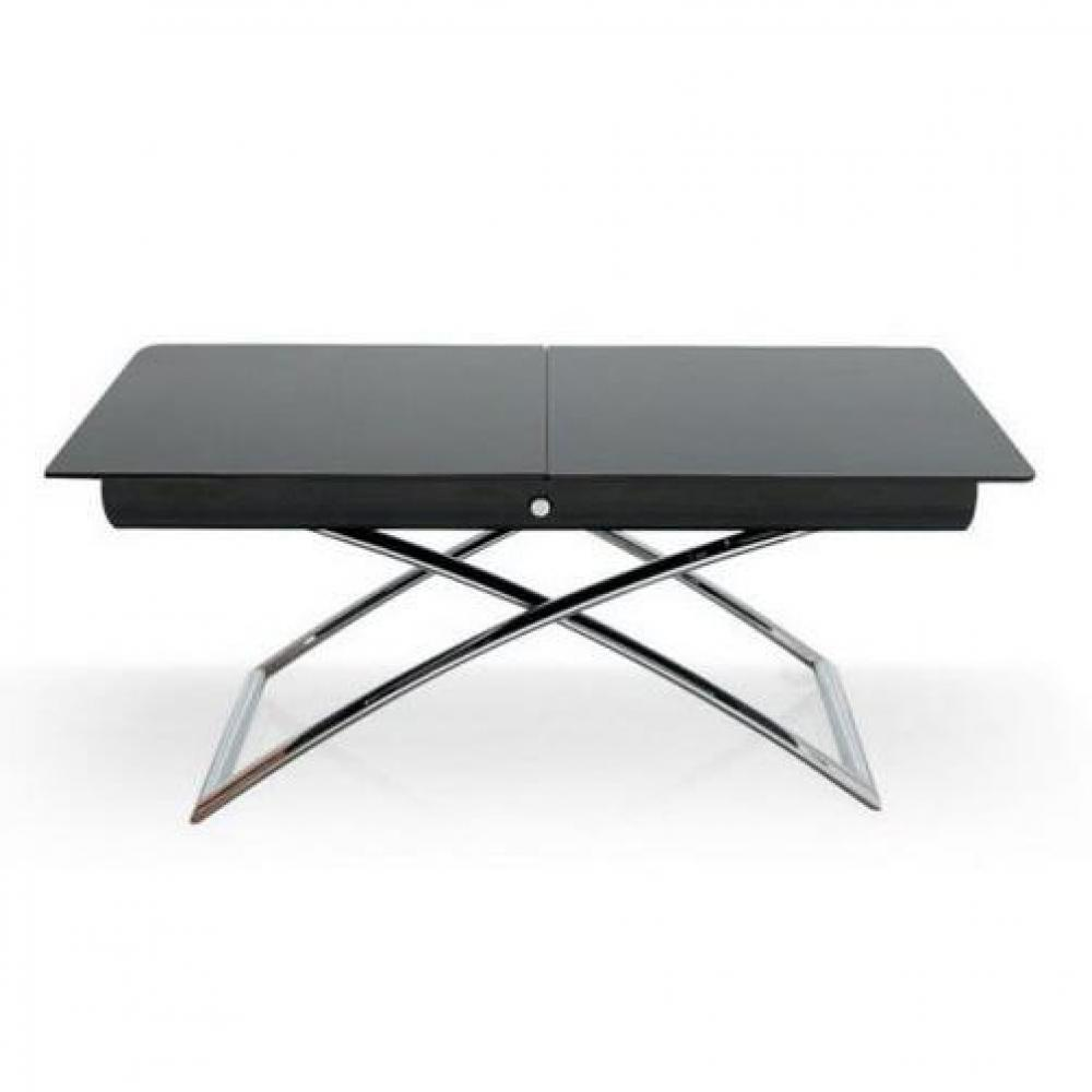 Table Relevable Extensible Verre
