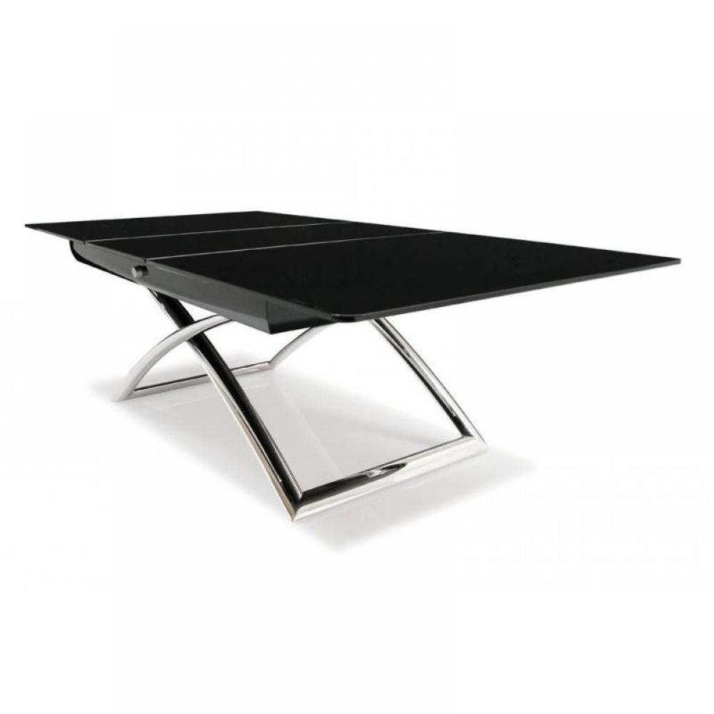 Tables basses tables et chaises table calligaris relevable extensible magic - Table verre noir extensible ...