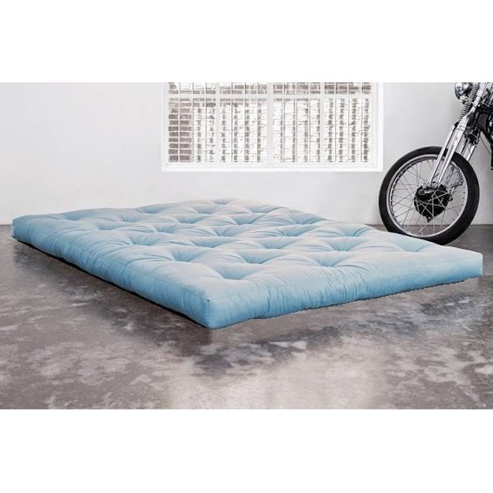 matelas chambre literie matelas futon double latex bleu celeste 140 200 18cm inside75. Black Bedroom Furniture Sets. Home Design Ideas