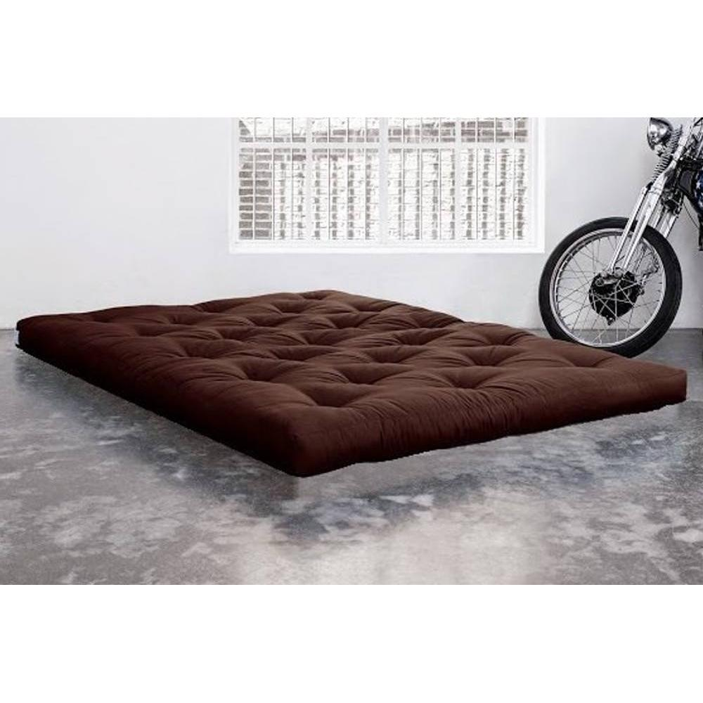 matelas chambre literie matelas futon double latex marron 180 200 18cm inside75. Black Bedroom Furniture Sets. Home Design Ideas