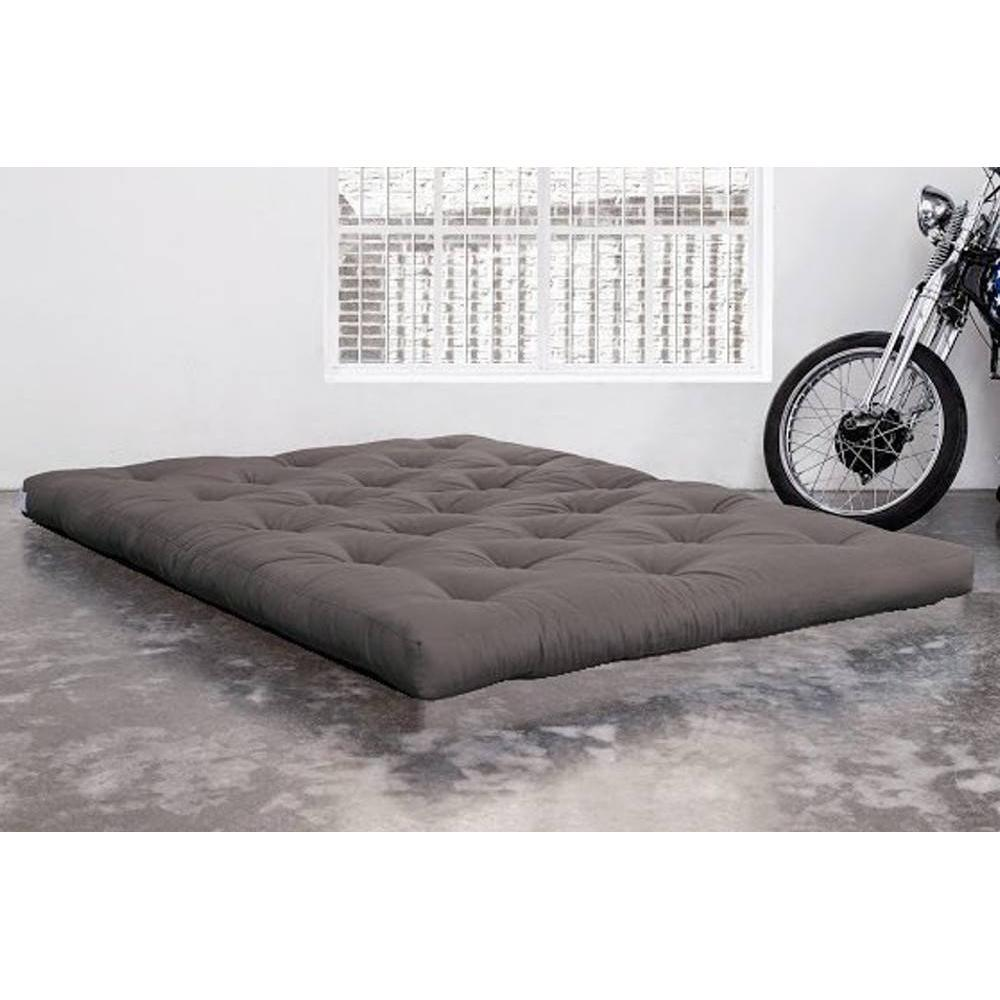 matelas chambre literie matelas futon coco gris longueur couchage 200cm paisseur 16cm. Black Bedroom Furniture Sets. Home Design Ideas