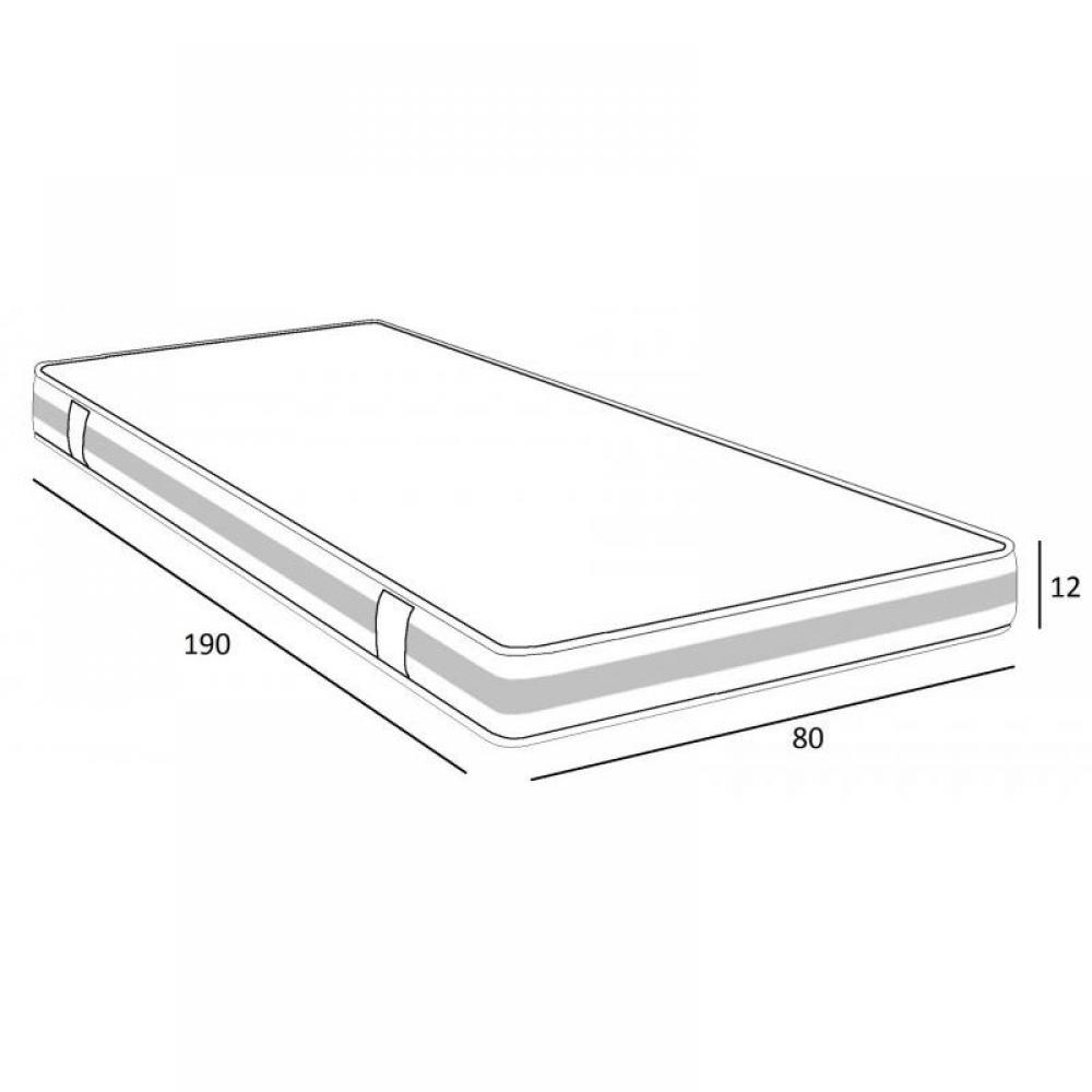 matelas chambre literie matelas mousse dyno 80 190 cm. Black Bedroom Furniture Sets. Home Design Ideas