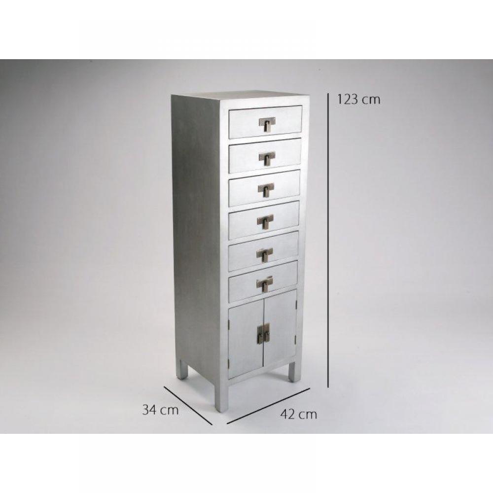 Chiffonniers meubles et rangements matmata chiffonnier bois 6 tiroirs 2 por - Chiffonnier 6 tiroirs ...