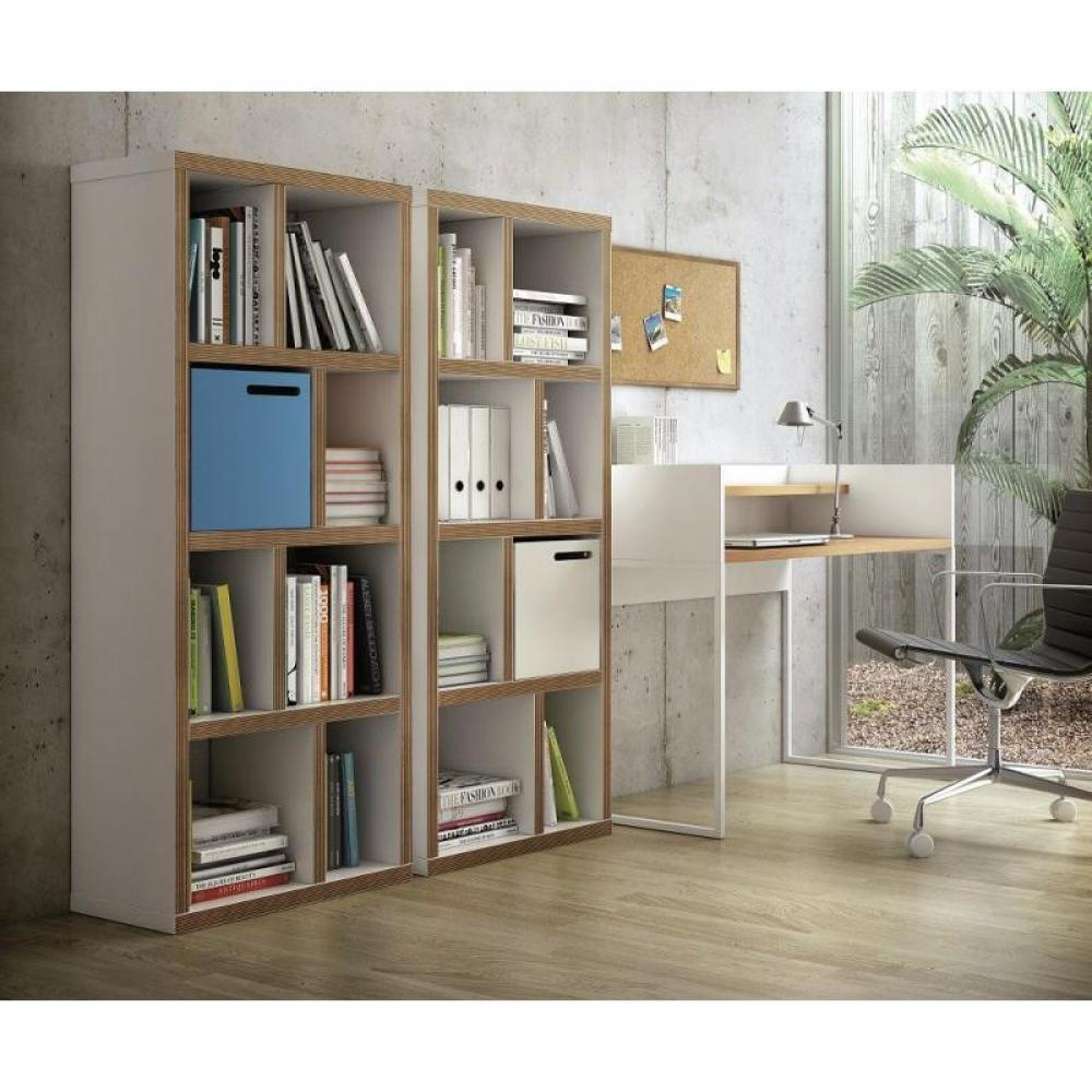 biblioth ques tag res meubles et rangements temahome berlin petite biblioth que blanche mate. Black Bedroom Furniture Sets. Home Design Ideas