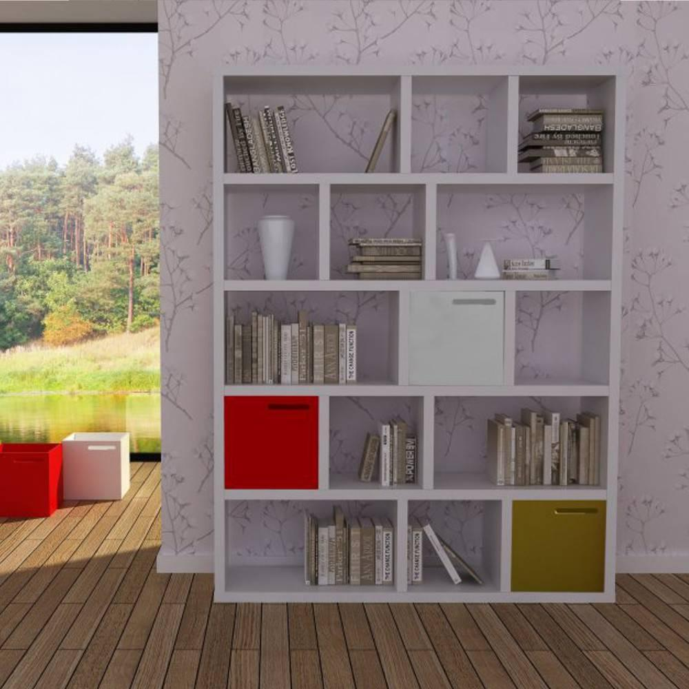 Meije bibliotheque 5 niveaux blanc 3 boites design ebay - Bibliotheque design blanc ...
