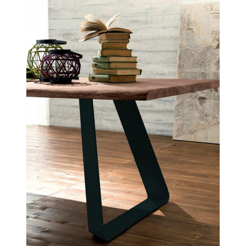 Rapido convertibles canap s syst me rapido melodie table repas en ch ne massif teint chocolat for Pied table design