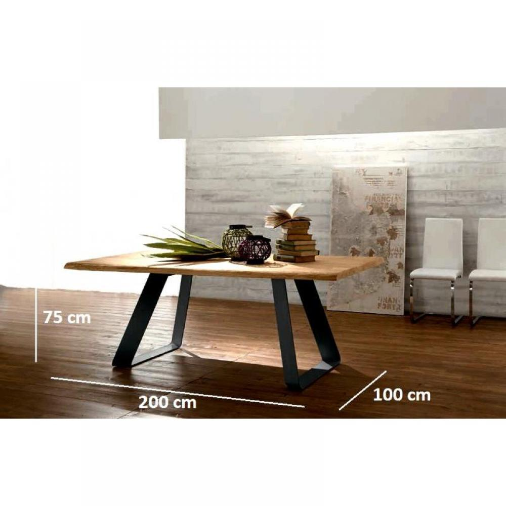 Tables repas tables et chaises melodie table repas en for Table chene et metal