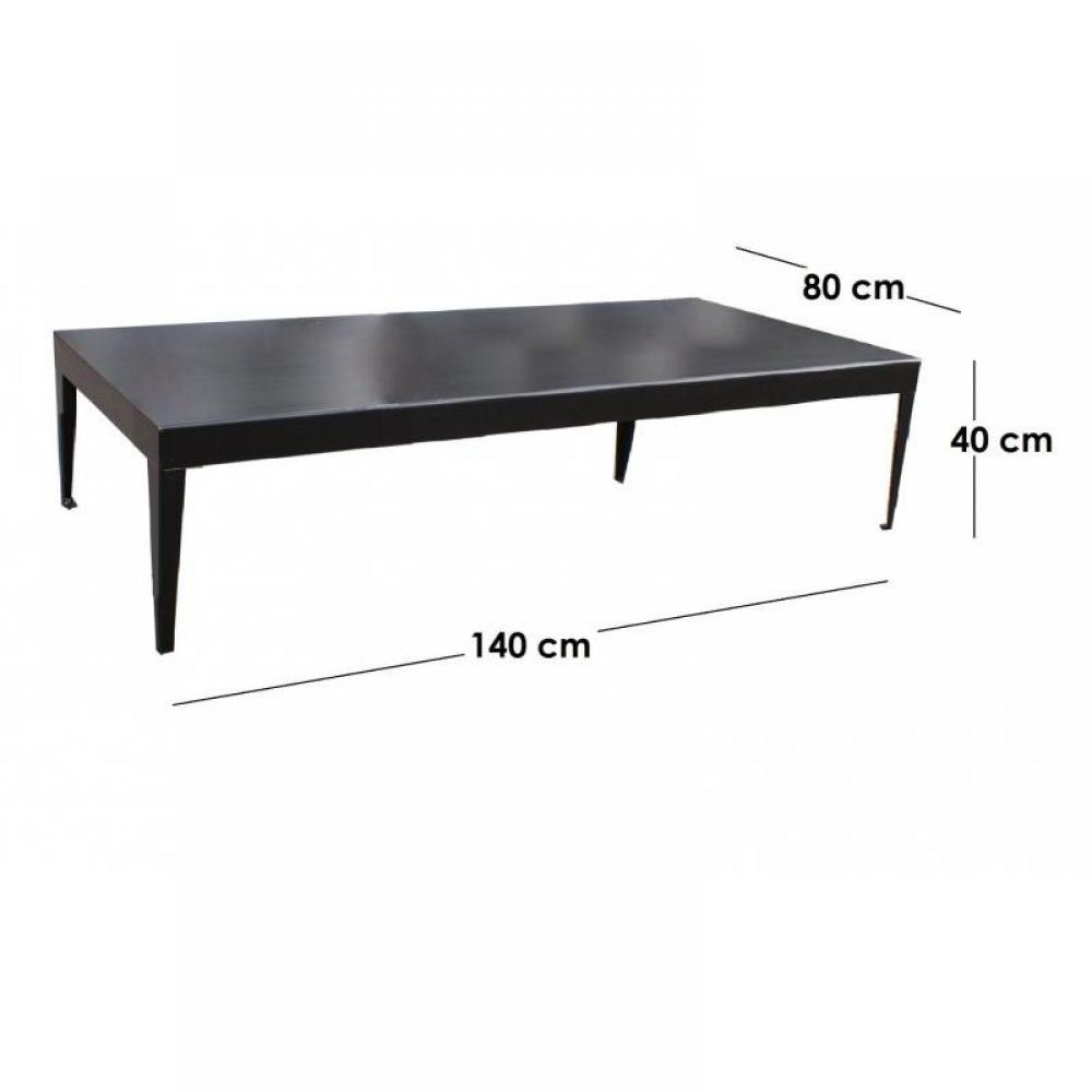 tables basses meubles et rangements metallika table basse m tallique avec pi tement fuseau. Black Bedroom Furniture Sets. Home Design Ideas