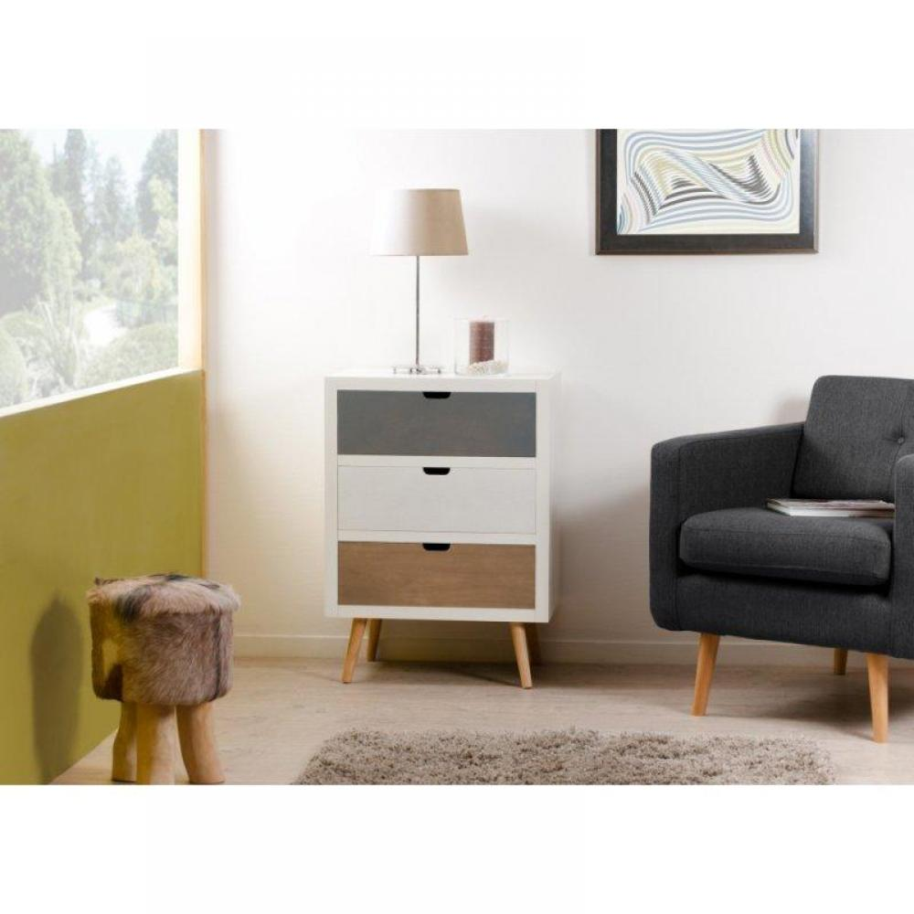commodes meubles et rangements petite commmode 3 portes enzo style scandinave en bois inside75. Black Bedroom Furniture Sets. Home Design Ideas