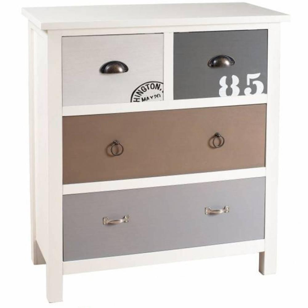 Buffets meubles et rangements meuble 4 tiroirs hugo style bord de mer ins - Meubles style bord de mer ...