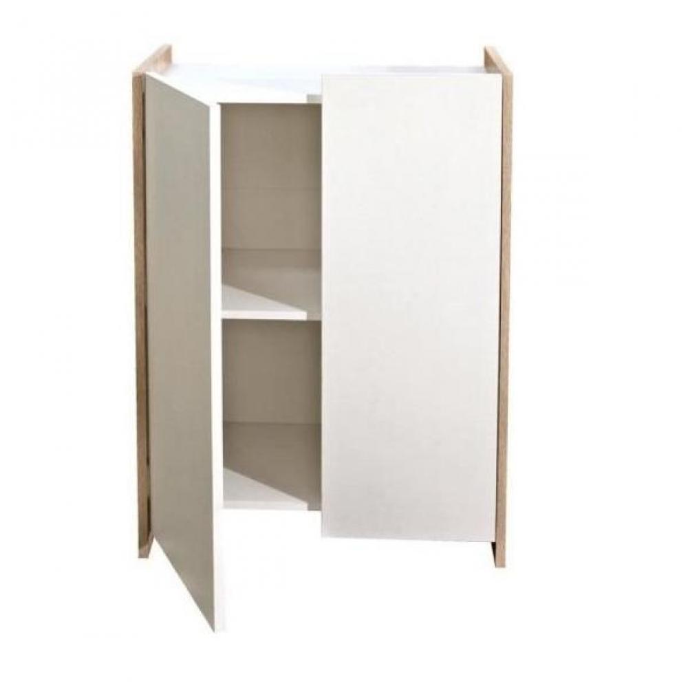 Meubles salle de bain meubles et rangements meuble de for Porte meuble salle de bain chene