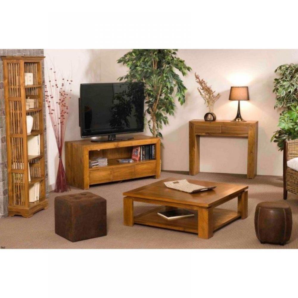 Meubles tv, meubles et rangements, Meuble Tv NINA 1 tiroirs en acacia  Inside75 -> Meubles Acacia