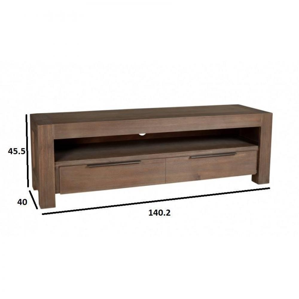meuble tv acacia bois et chiffons – Artzein.com