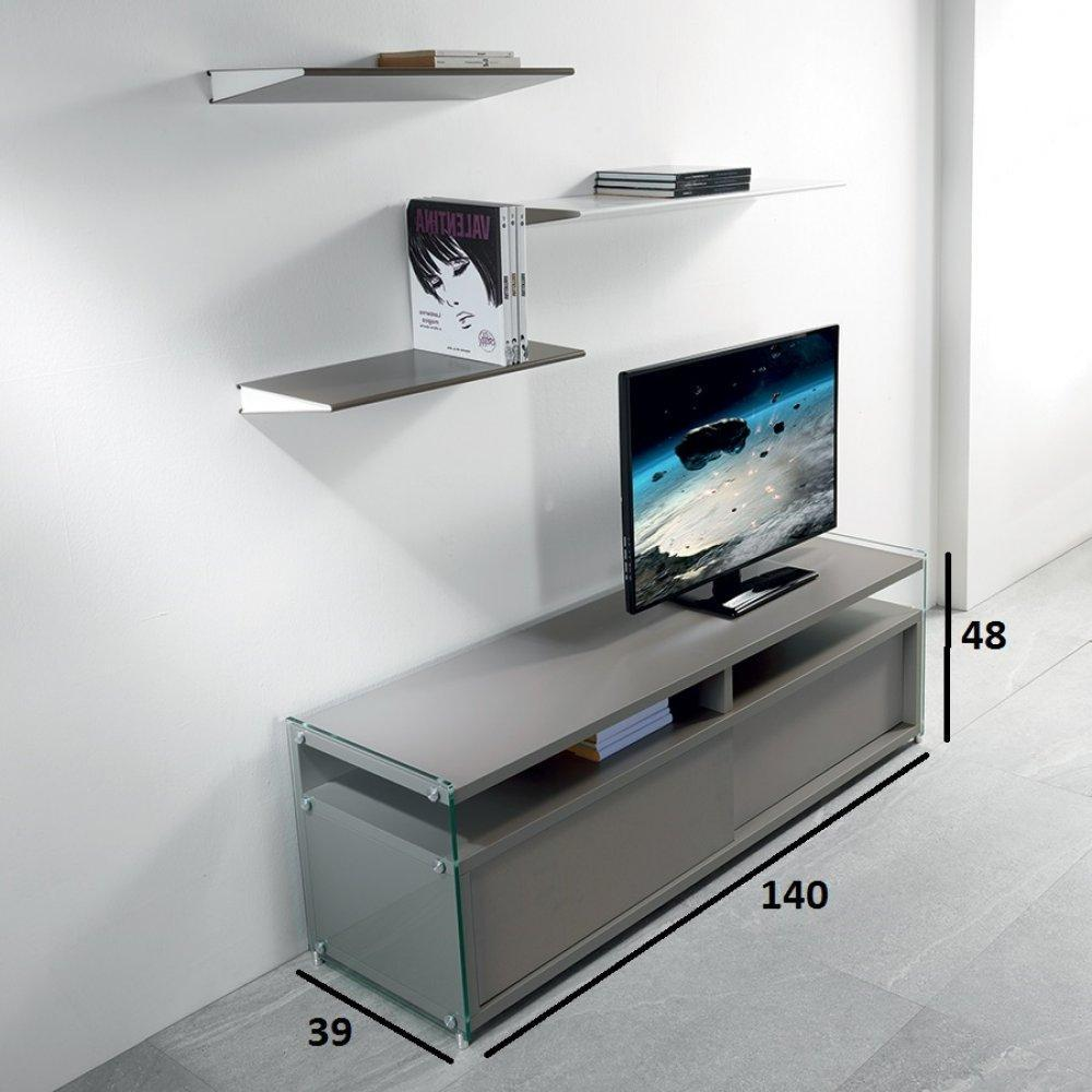Meubles tv meubles et rangements meuble tv talac 2 for Meuble tv porte coulissante