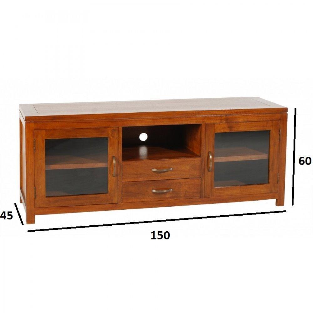 Meubles tv meubles et rangements meuble tv lauren lorine for Meuble 2 porte but