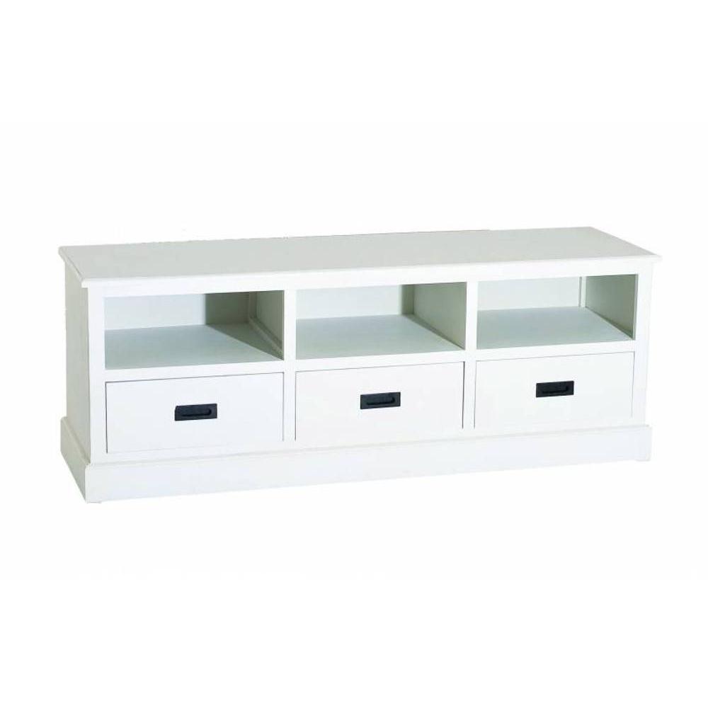 Meubles tv meubles et rangements meuble tv 3 niches 3 for Meuble tv campagne chic