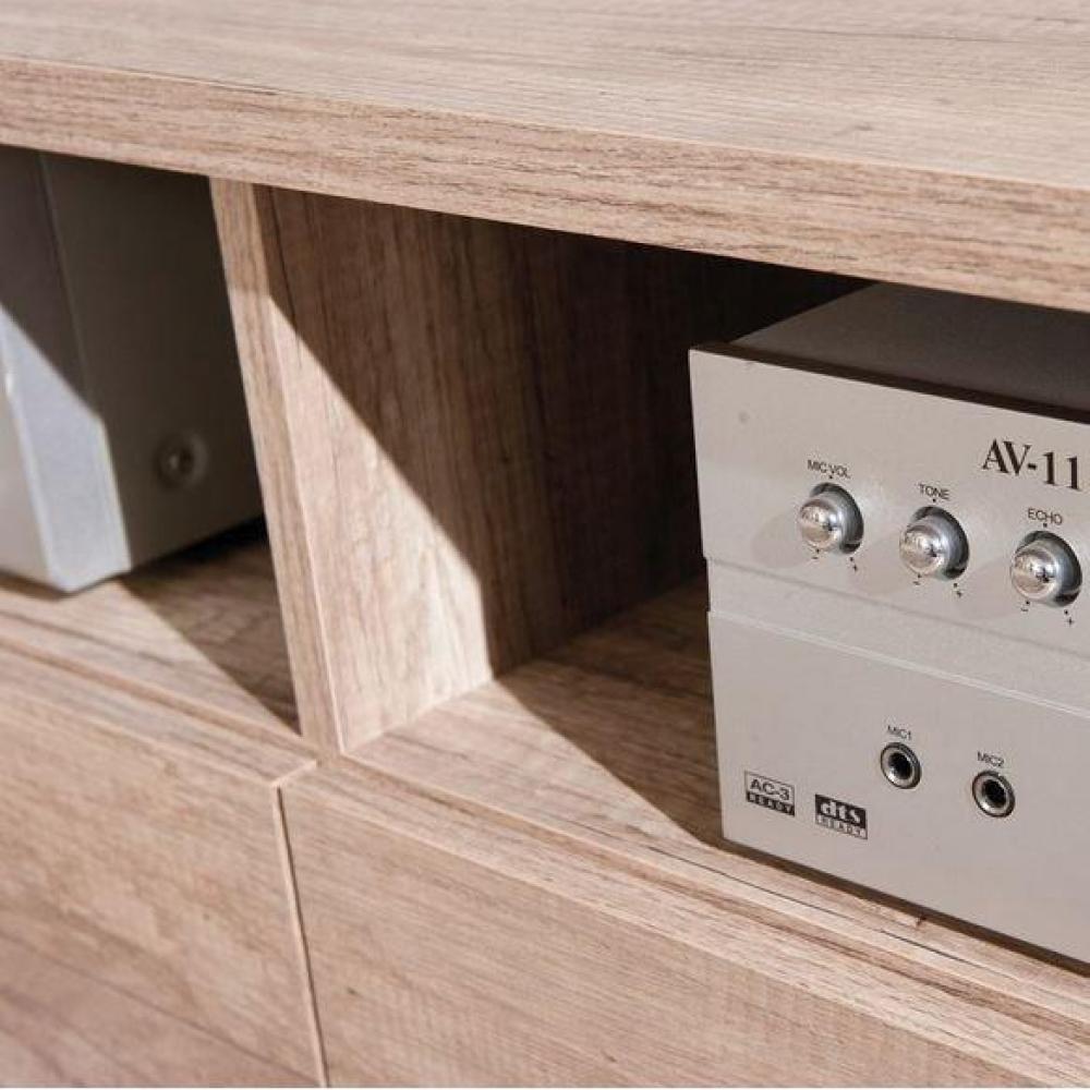 Meubles tv meubles et rangements meuble tv absoluto 2 for Meuble tiroir bois brut