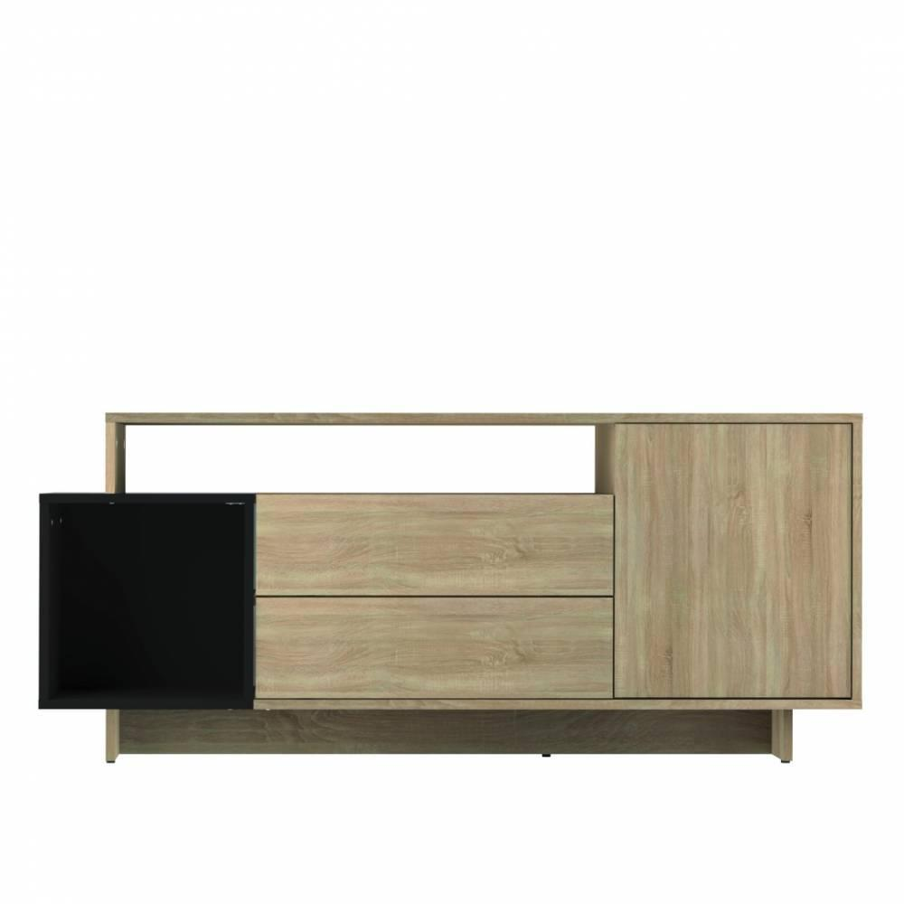 meubles tv meubles et rangements meuble tv dainn design scandinave 1 porte 2 abattants ch ne. Black Bedroom Furniture Sets. Home Design Ideas