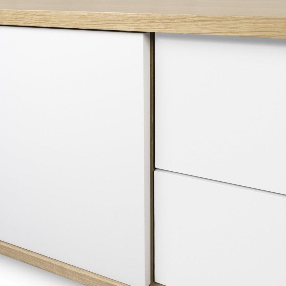 Meuble Tv Blanc Porte Coulissante Artzein Com # Meuble Tv Blanc Mat Porte Coulissante