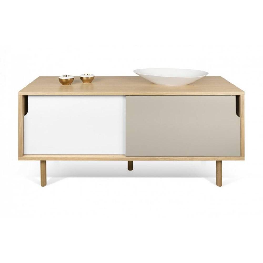 Meubles tv meubles et rangements temahome meuble tv dann for Meuble porte escamotable
