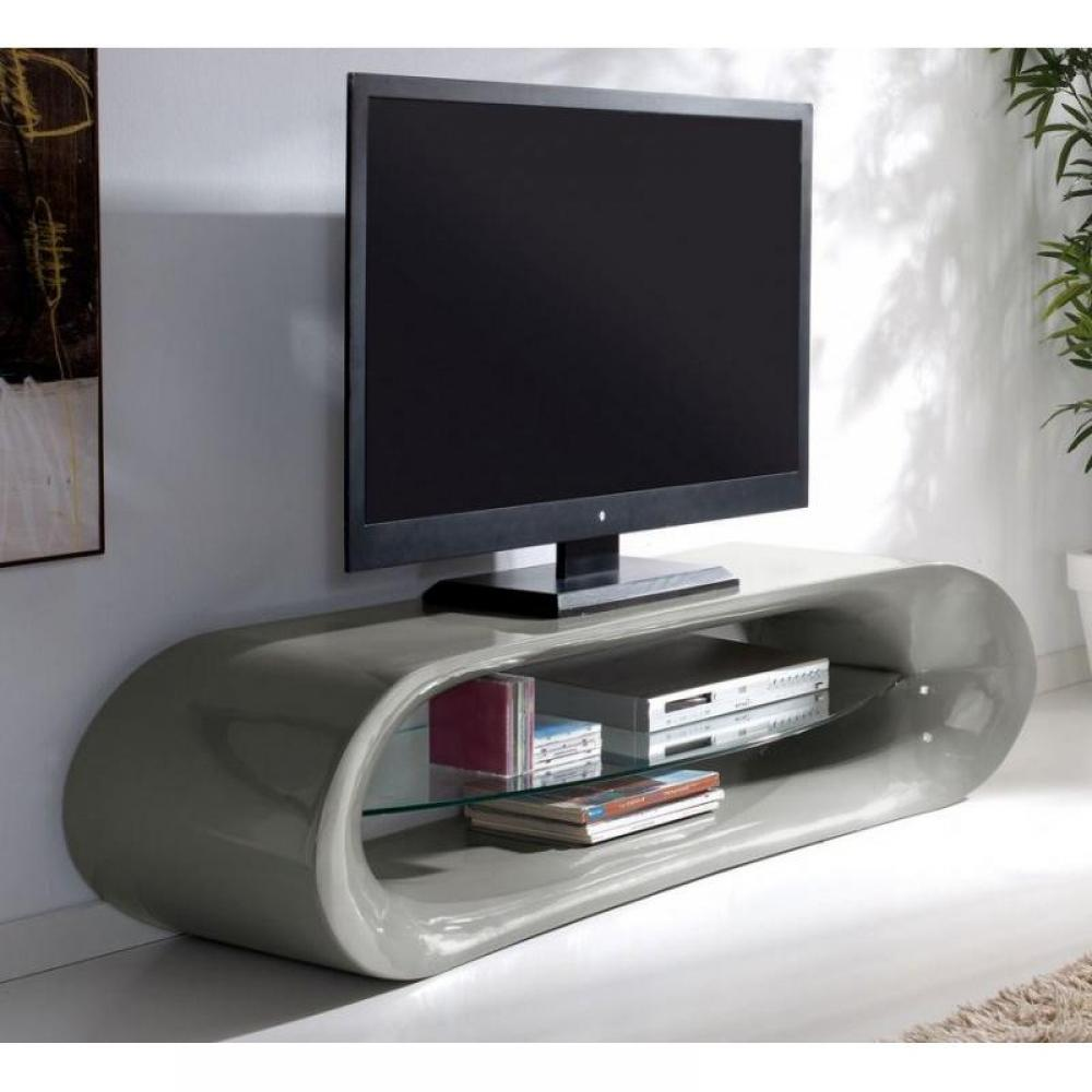 Meubles tv meubles et rangements meuble tv design ka na en fibre de verre g - Meuble tv design arrondi ...