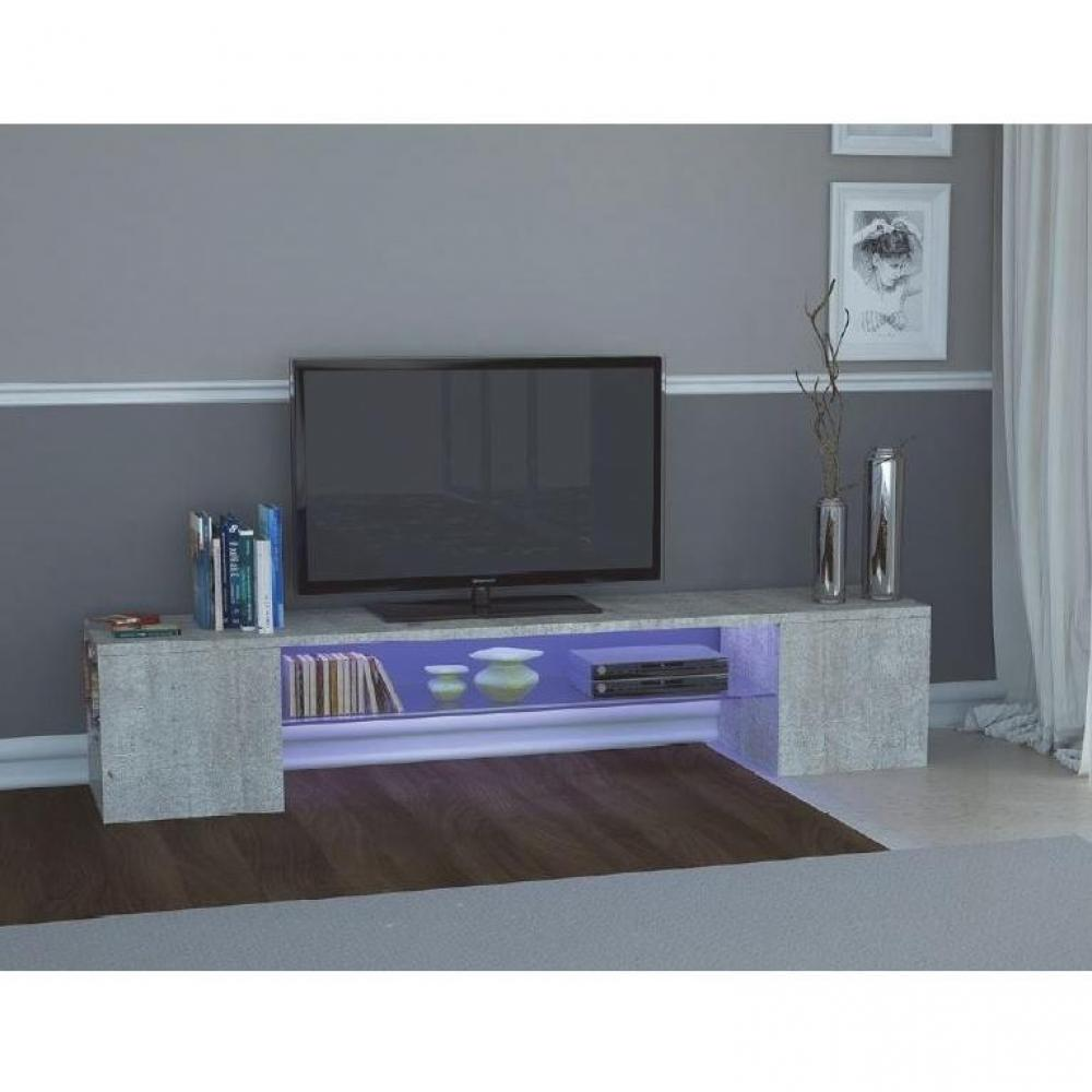 meubles tv meubles et rangements meuble design tv modern b effet b ton inside75. Black Bedroom Furniture Sets. Home Design Ideas