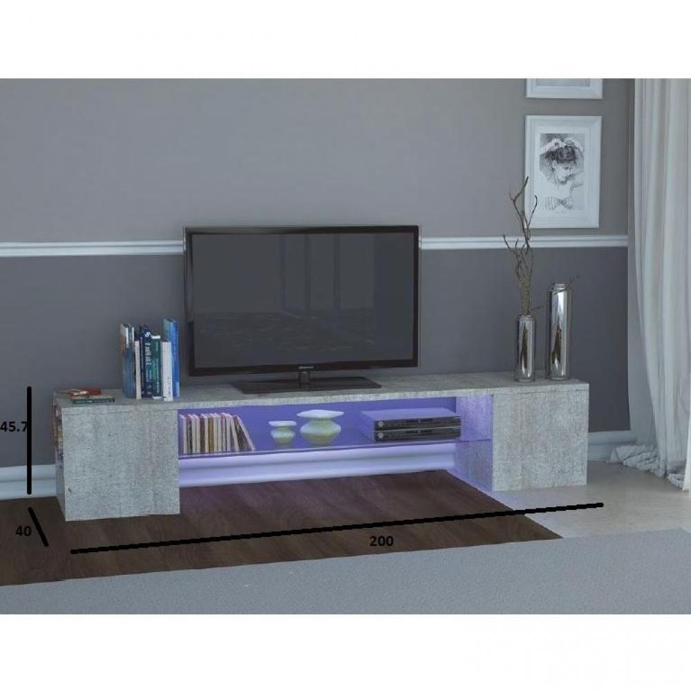 Meubles tv meubles et rangements meuble design tv modern - Meuble effet beton ...