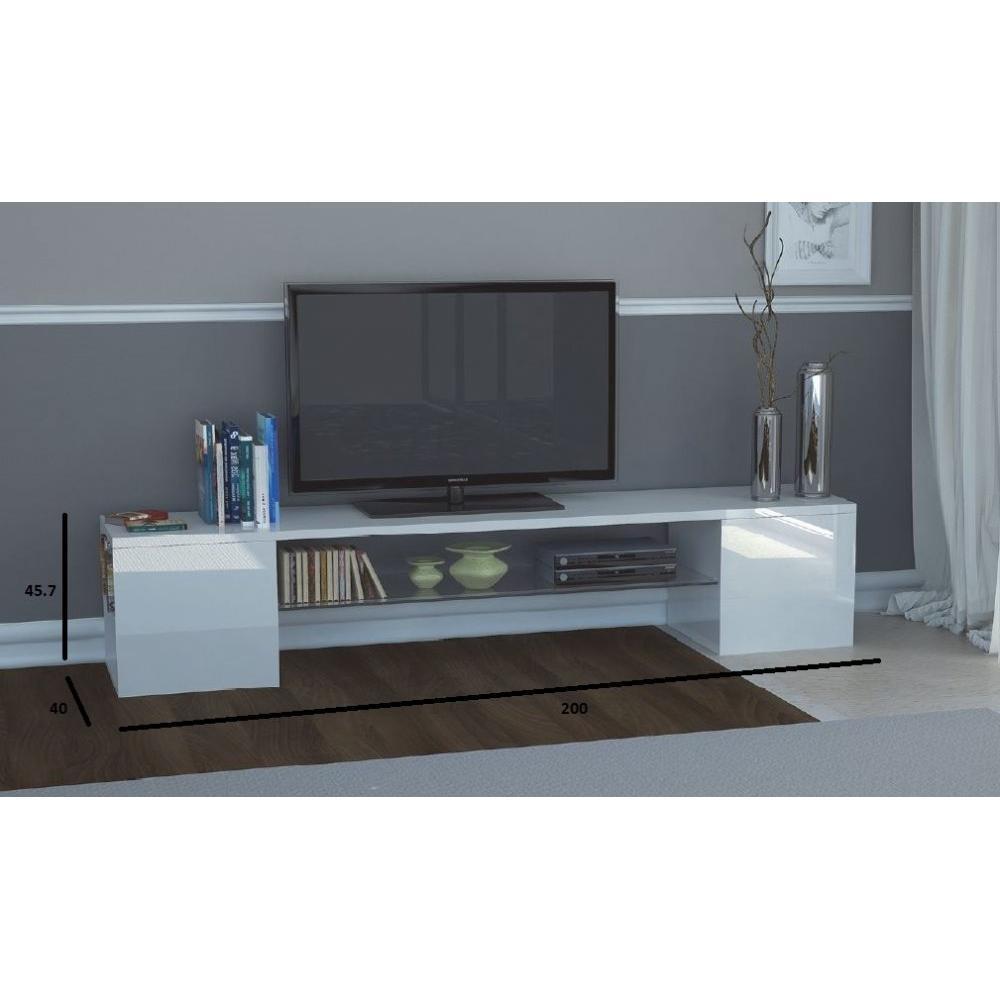 Meubles tv meubles et rangements meuble design tv modern for Meuble moderne blanc