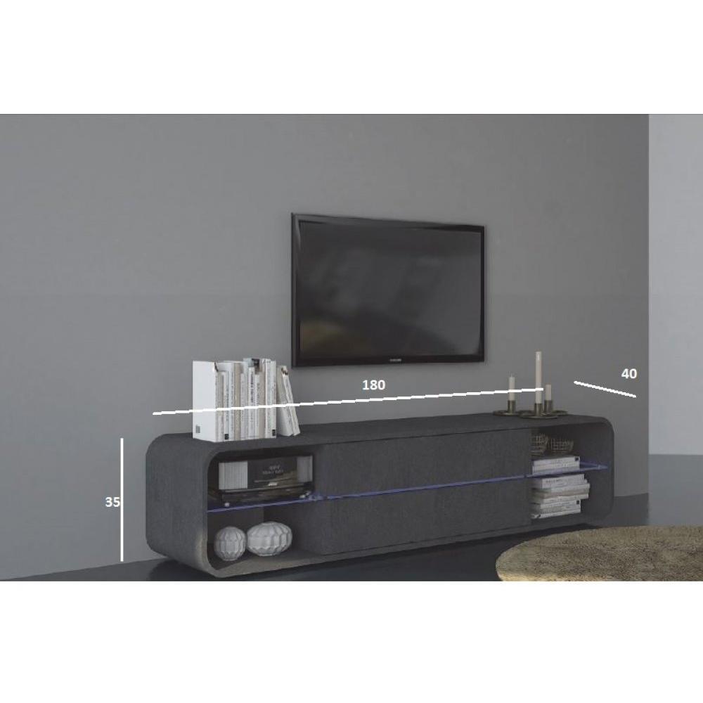 meubles tv meubles et rangements meuble tv design viper effet marbre inside75. Black Bedroom Furniture Sets. Home Design Ideas