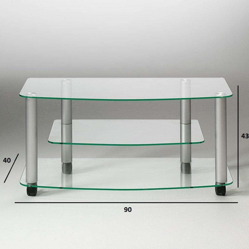 Meuble tv design verre trempe solutions pour la for Meuble tv en verre design