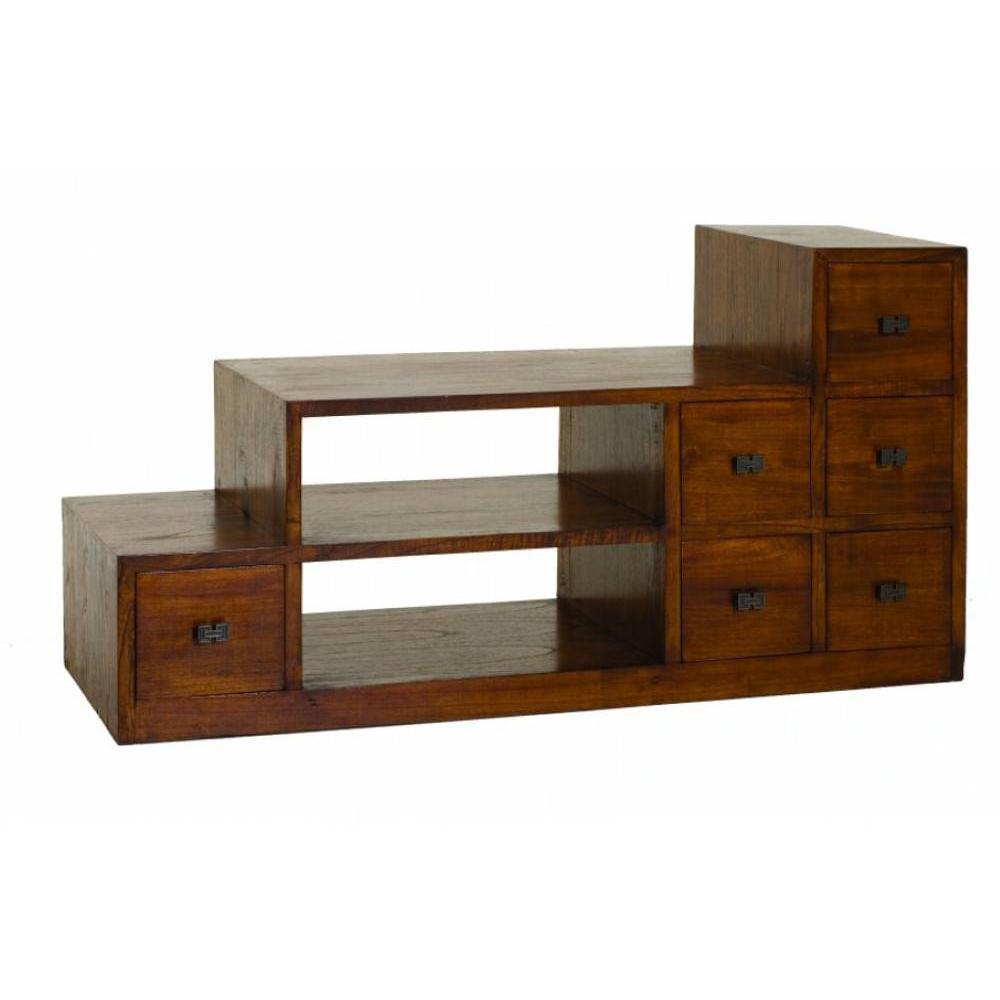 meubles tv meubles et rangements meuble tv lauren en escalier lorine en midi inside75. Black Bedroom Furniture Sets. Home Design Ideas