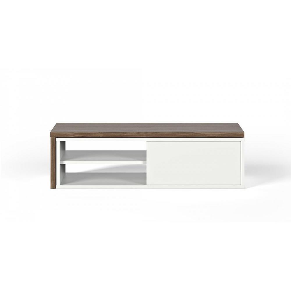 meuble tv blanc porte coulissante – Artzein.com