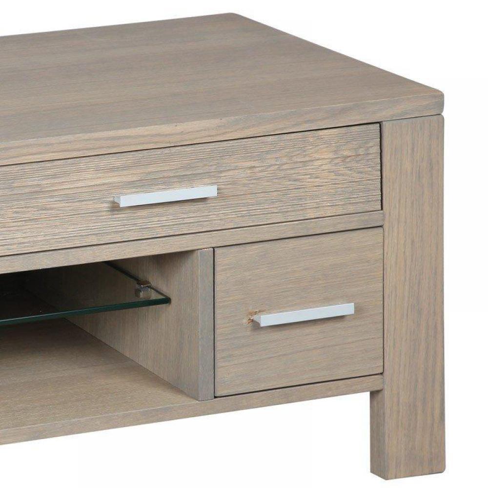 Meubles tv, meubles et rangements, Meuble TV HANS en chêne massif gris taupe  -> Meuble Tv Massif Gris