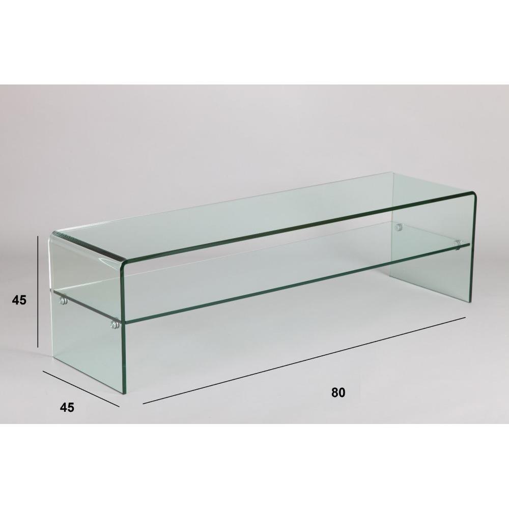 meubles tv meubles et rangements meuble tv design agate en verre inside75. Black Bedroom Furniture Sets. Home Design Ideas