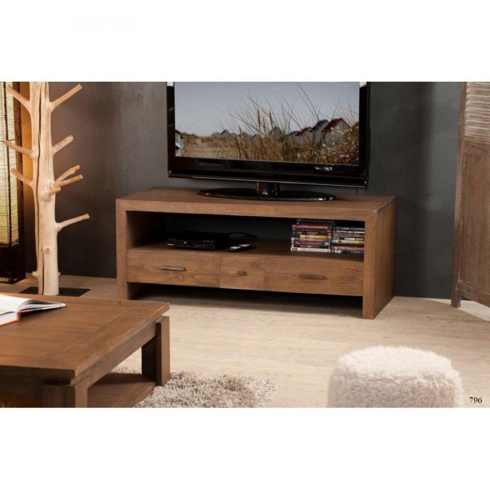 Meubles tv meubles et rangements meuble tv laura en midi for Meuble tv style
