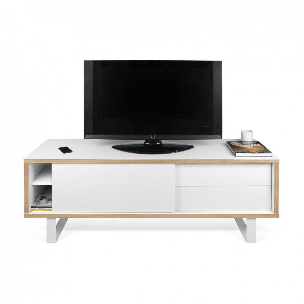 Meuble tv design avec porte coulissante for Meuble tv design
