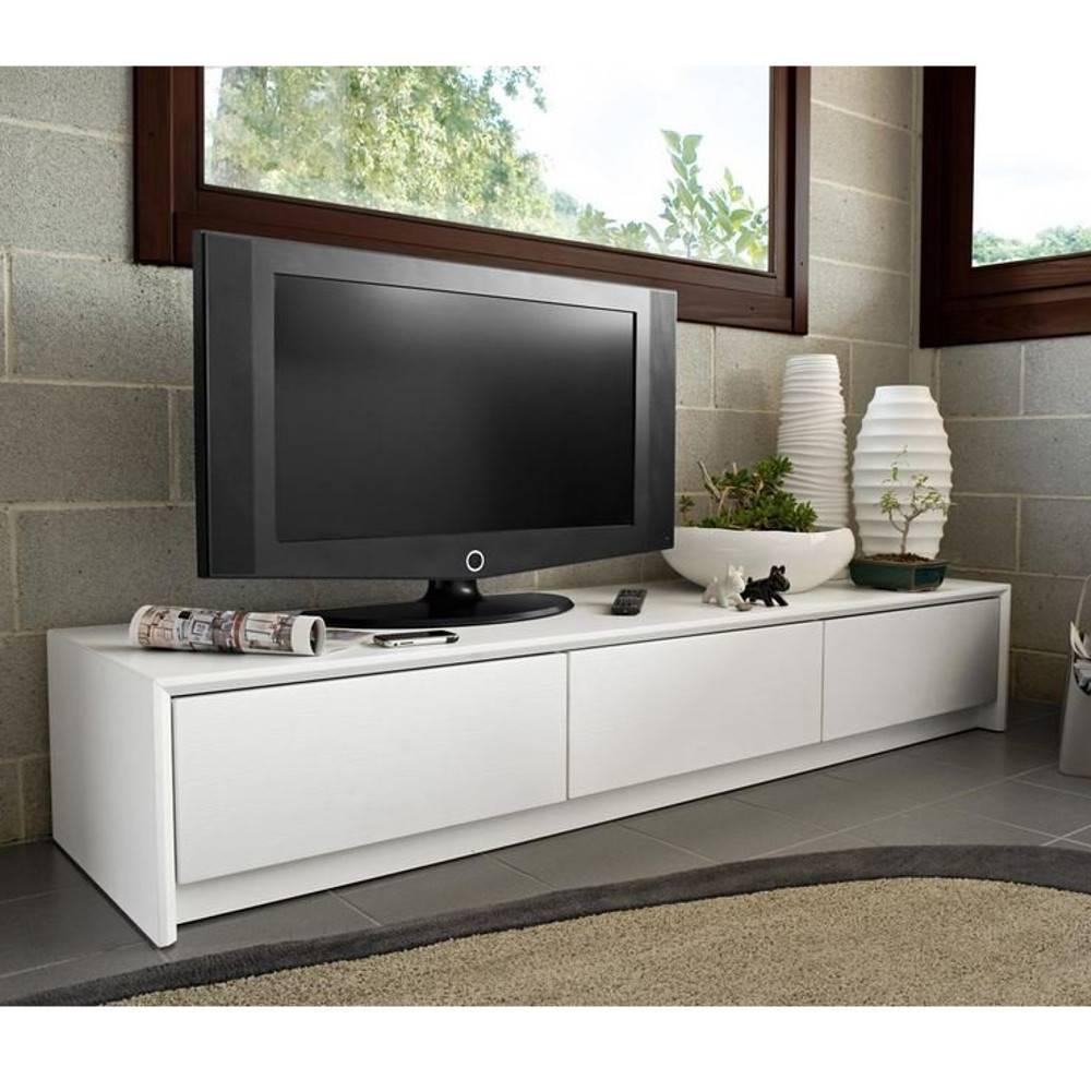 meubles tv meubles et rangements calligaris meuble tv password blanc 3 tiroirs inside75. Black Bedroom Furniture Sets. Home Design Ideas
