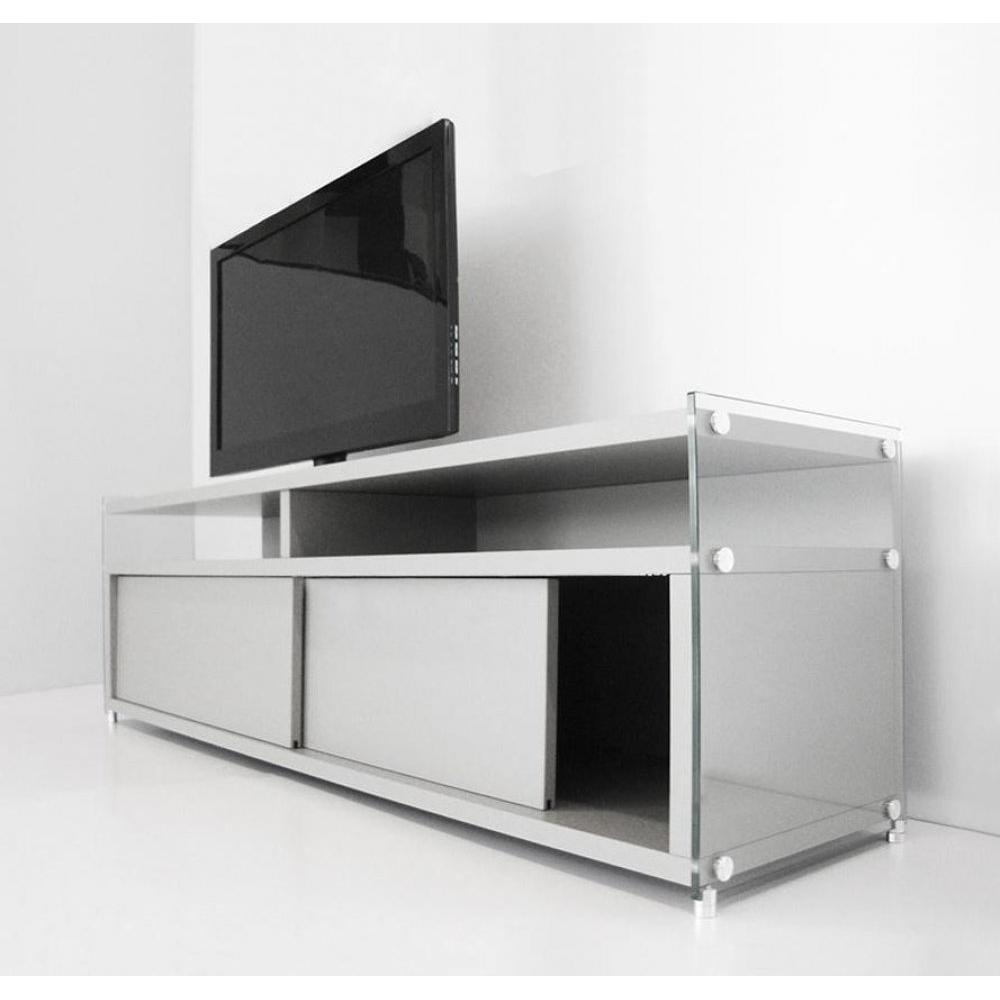 Meubles tv meubles et rangements meuble tv talac 180 cm for Meuble porte escamotable