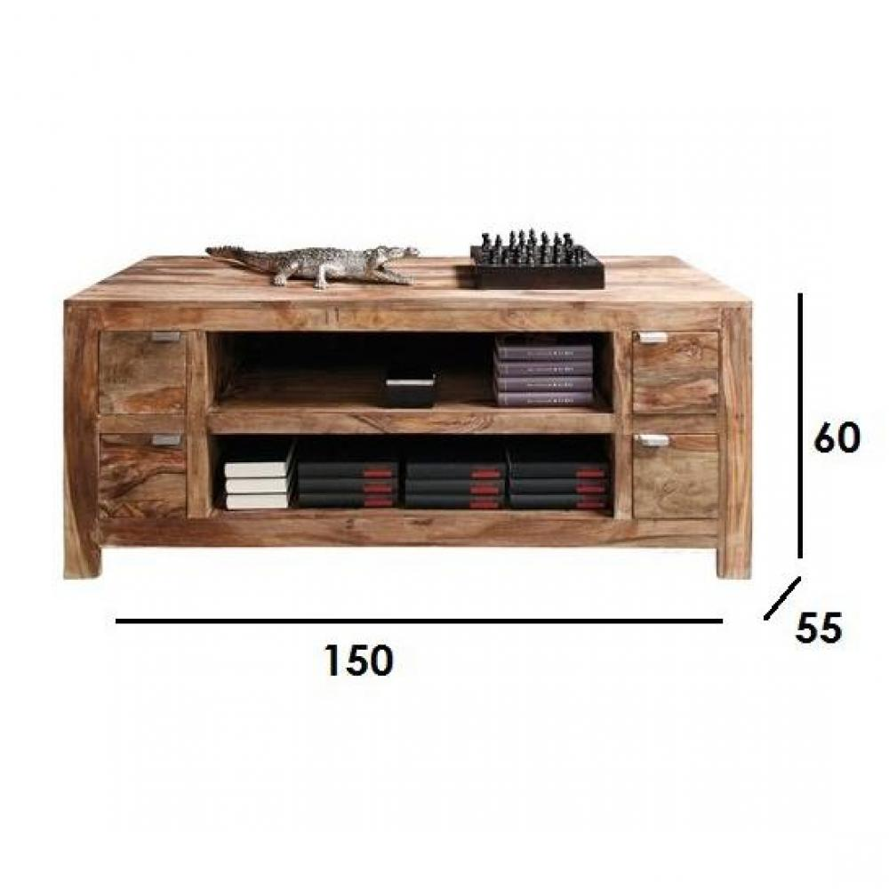 Meuble Tv Tiroir Bois : Meubles Tv, Meubles Et Rangements, Meuble Tv Wood, 4 Tiroirs En Bois