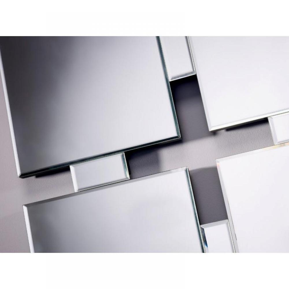 Miroirs meubles et rangements milestones miroir mural en for Meuble mural en verre