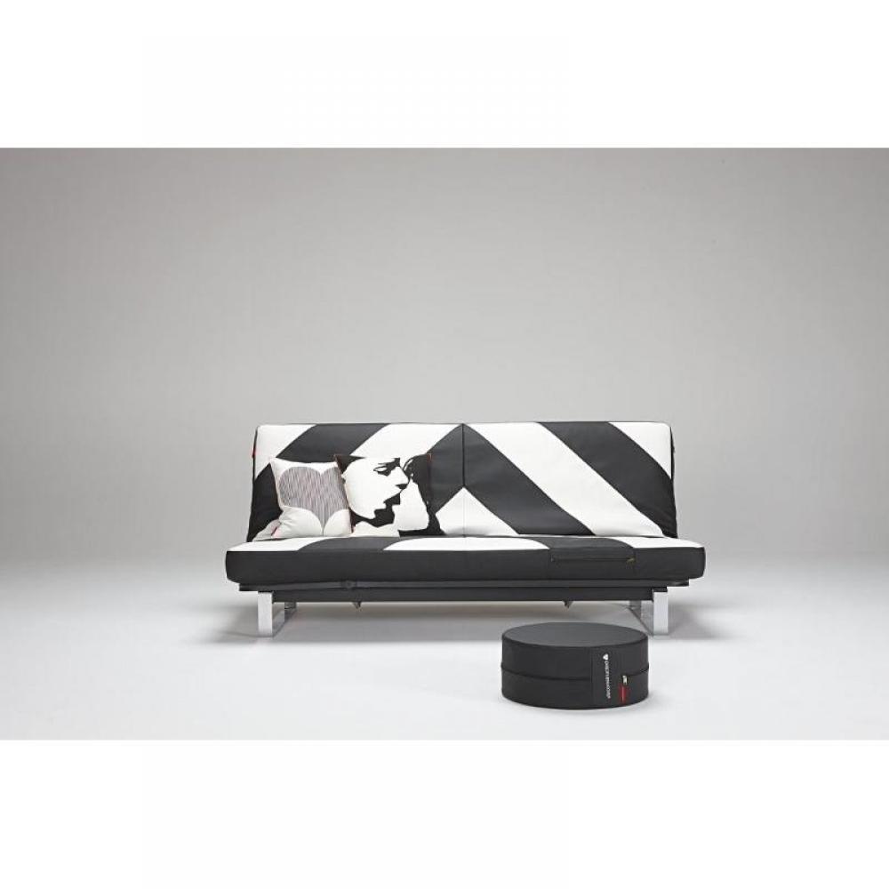 housse clic clac noir et blanc conceptions de maison. Black Bedroom Furniture Sets. Home Design Ideas
