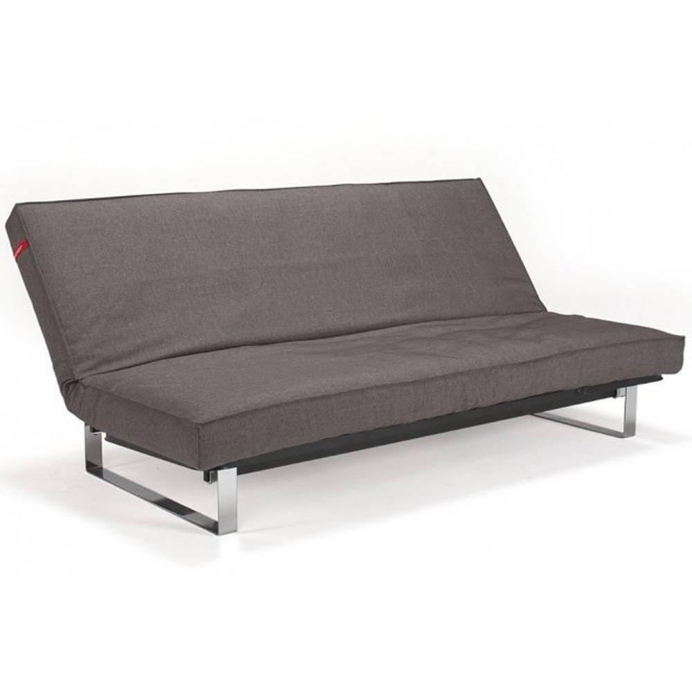 Innovation living clic clac minimum gris smoke grey convertible lit 200 140 cm ebay - Clic clac couchage quotidien ...