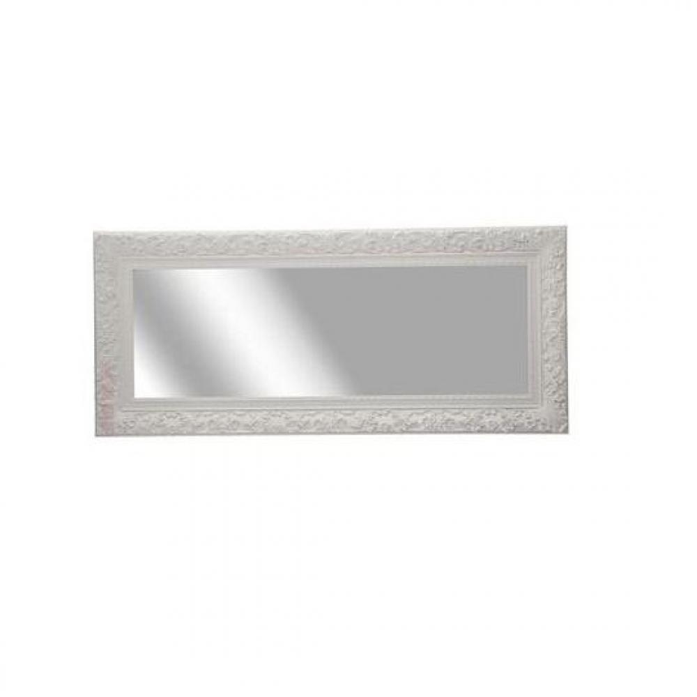 Miroirs meubles et rangements miroir opulence blanc for Miroir blanc design