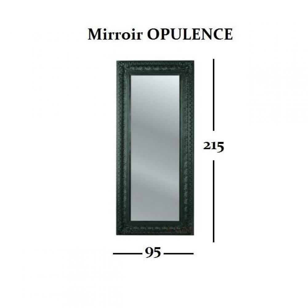 Chaises meubles et rangements miroir opulence noir for Miroir design noir