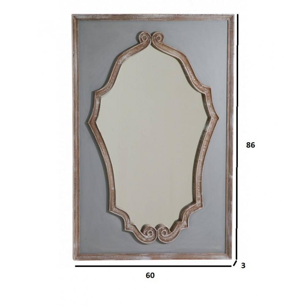 Miroirs meubles et rangements miroir princesse cassie en for Miroir style baroque