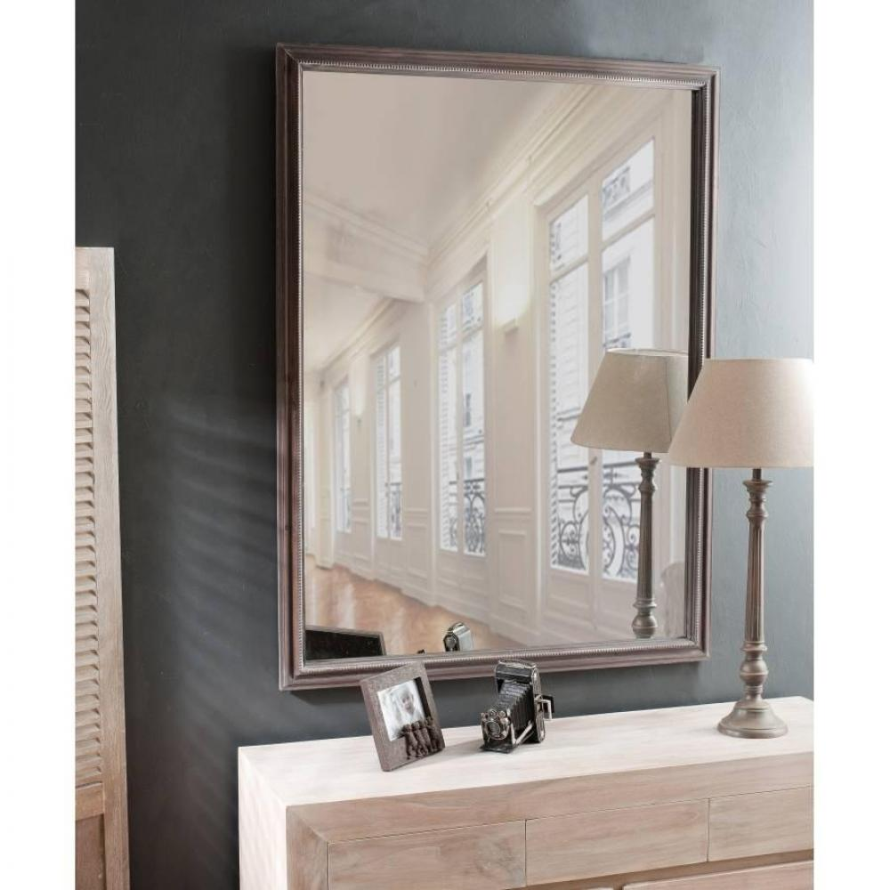Miroirs meubles et rangements miroir rectangulaire cassie 90 x 120 cm en bo - Miroir design rectangulaire ...