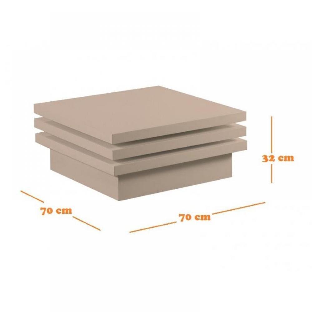 Tables basses, meubles et rangements, MOOVE table basse modulable carrée laqu -> Table Carre Modulable