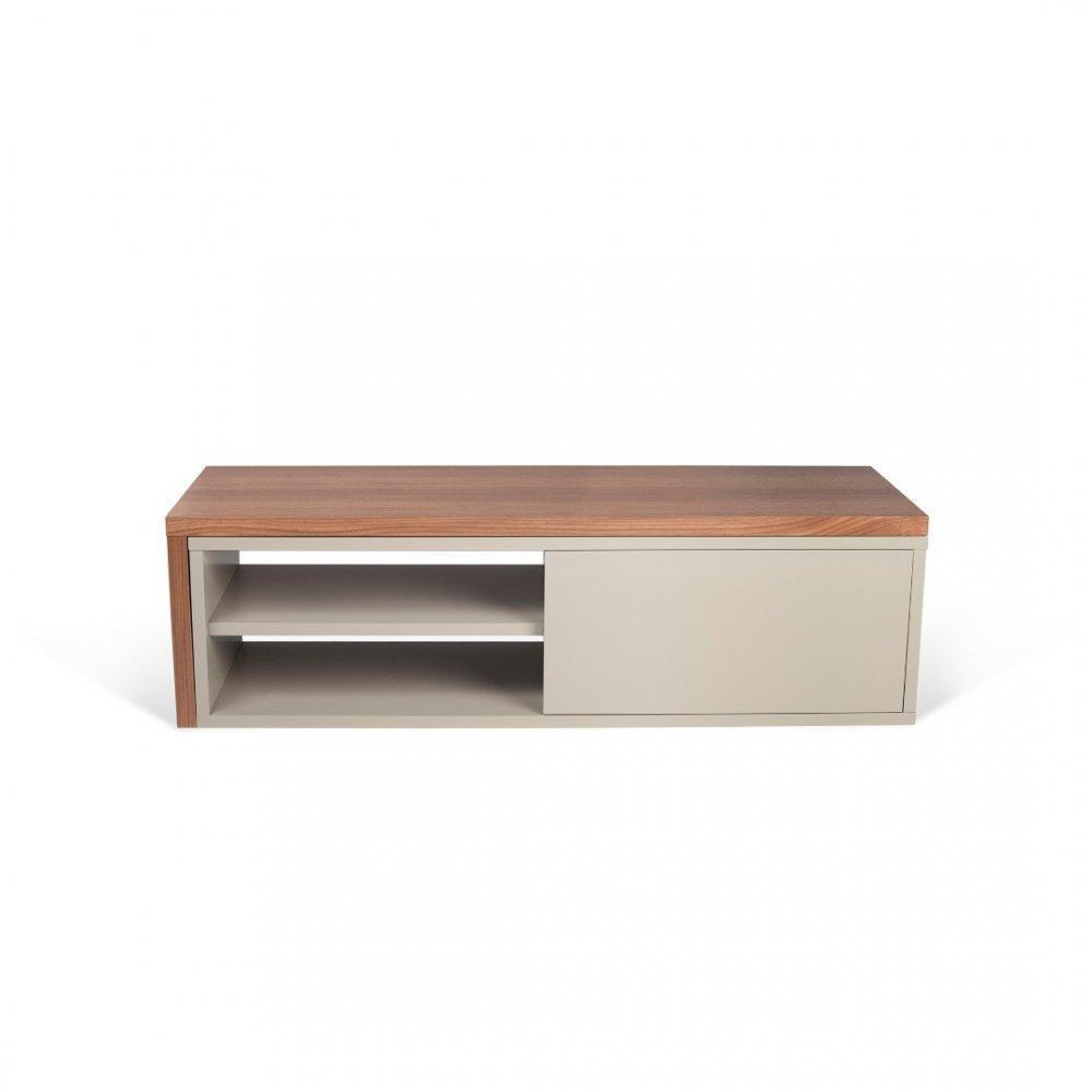 meubles tv meubles et rangements move meuble tv modulable noyer et gris avec1 porte. Black Bedroom Furniture Sets. Home Design Ideas