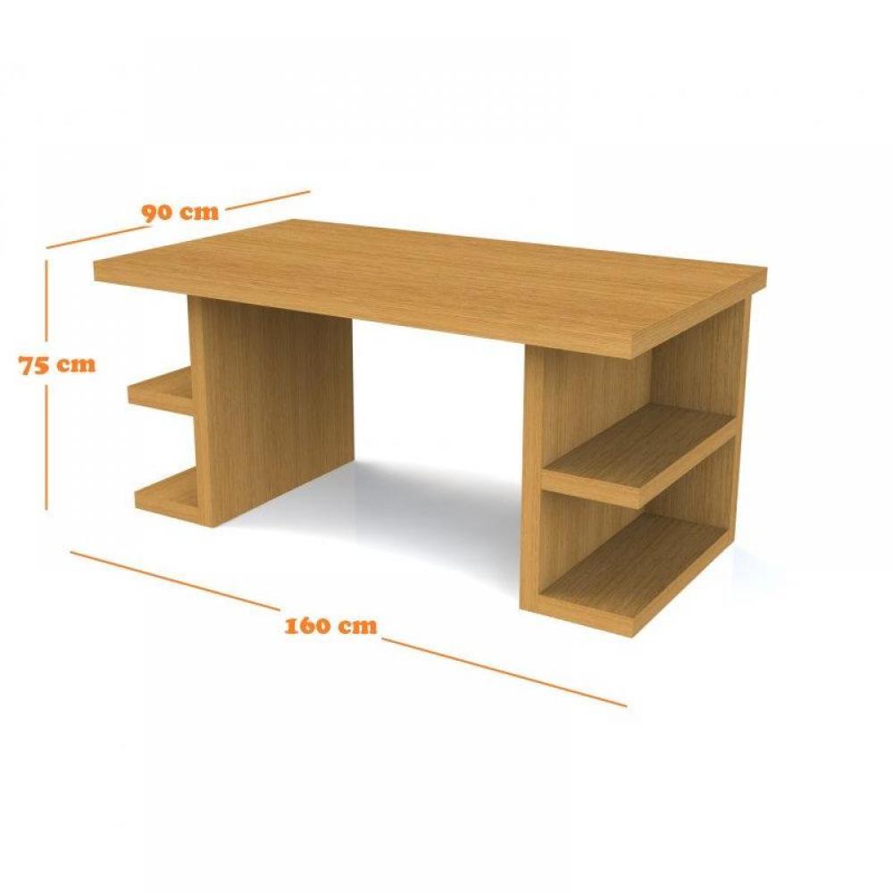 Bureaux meubles et rangements multi bureau bois for Grand bureau en bois